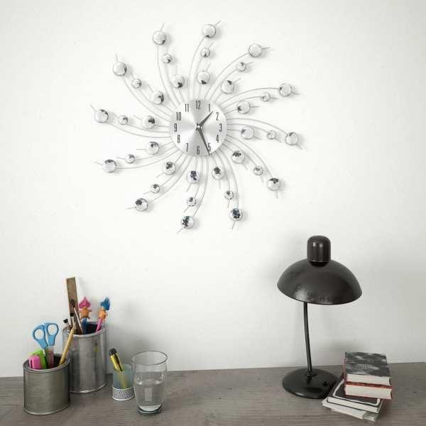 vidaXL Ceas de perete, mecanism cuarț, 50 cm, design modern
