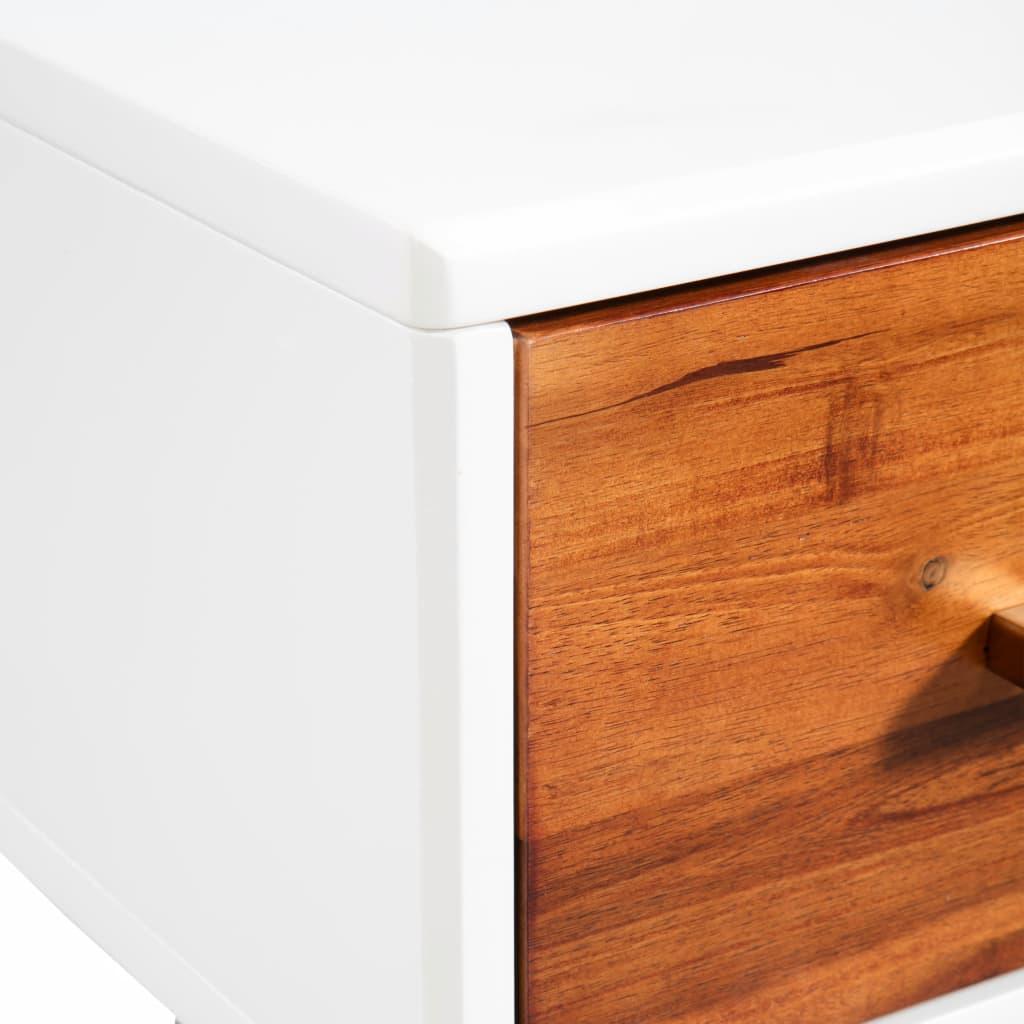 Masă consolă din lemn masiv de acacia, 70 x 30 x 75 cm