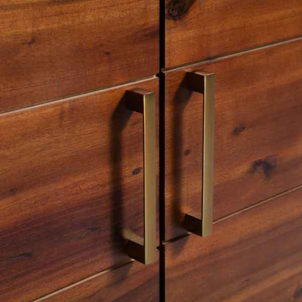 Bufet din lemn masiv de acacia, 90 x 33,5 x 83 cm