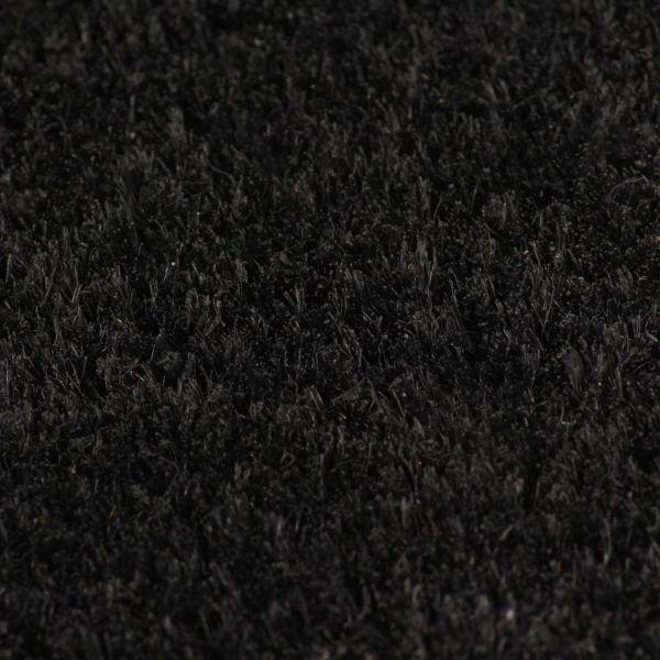 Covor intrare, fibră nucă cocos 24 mm, 100×150 cm Negru