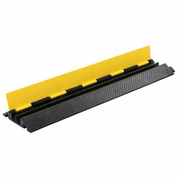 vidaXL Rampă de protecție cabluri, 2 canale, cauciuc 101,5 cm