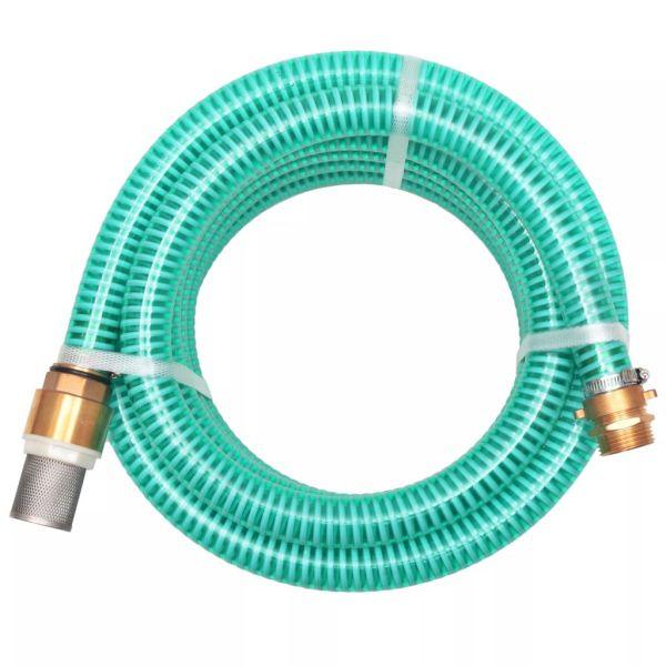vidaXL Furtun de aspirație, conectori de alamă, 3 m, 25 mm, verde