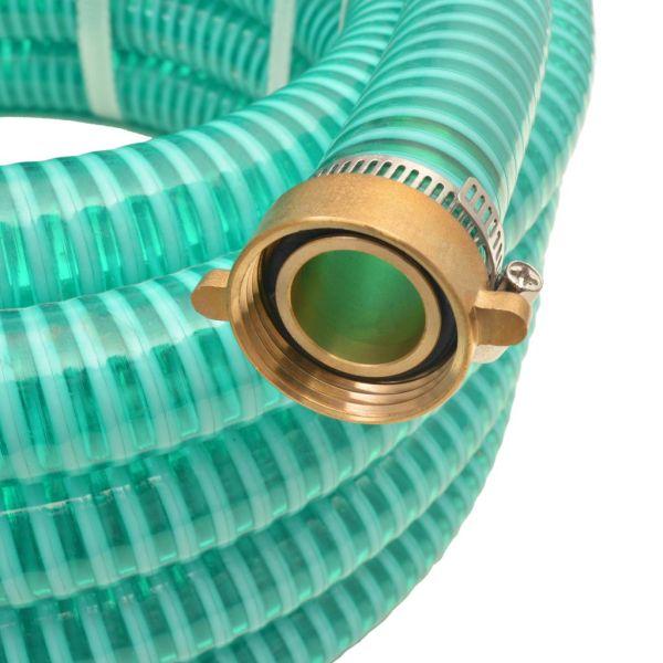 Furtun de aspirație, conectori de alamă, 10 m,  25 mm, verde