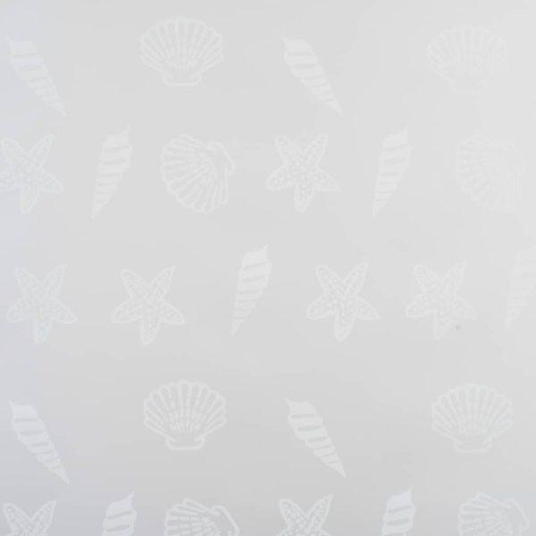 vidaXL Roletă perdea de duș 100×240 cm Model stea de mare