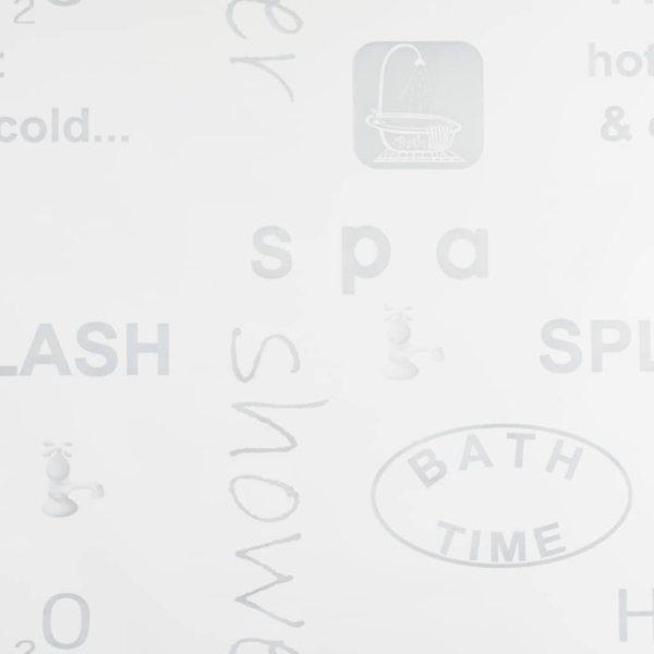 vidaXL Roletă perdea de duș 140×240 cm Imprimeu Splash