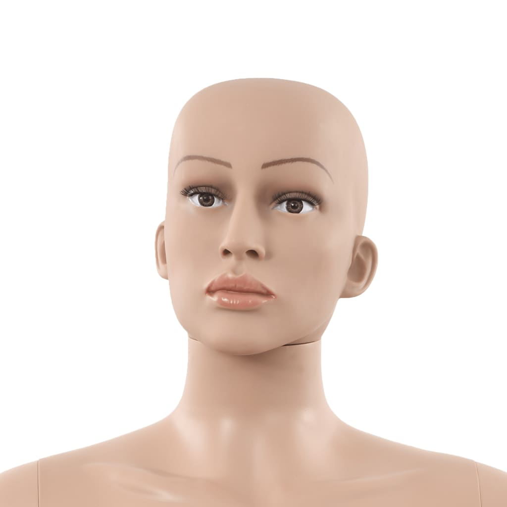 Manechin feminin sexy, suport din sticlă, bej, 180 cm