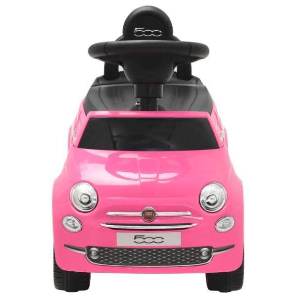 vidaXL Mașinuță fără pedale Fiat 500 Roz