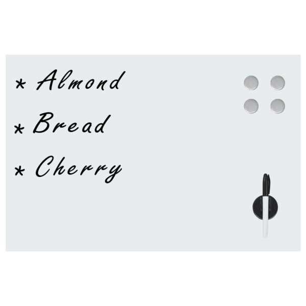 vidaXL Tablă albă magnetică de perete, Sticlă, 60×40 cm