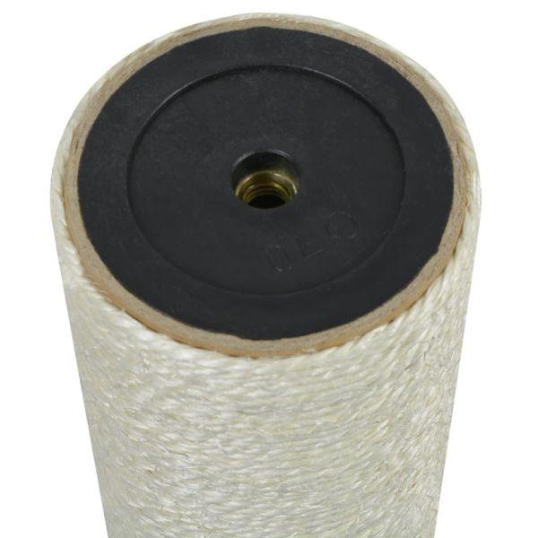 vidaXL Ansamblu de joacă pentru pisici 8×40 cm, 10 mm Bej