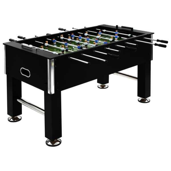 vidaXL Masă de fotbal, negru, 140 x 74,5 x 87,5 cm, oțel, 60 kg