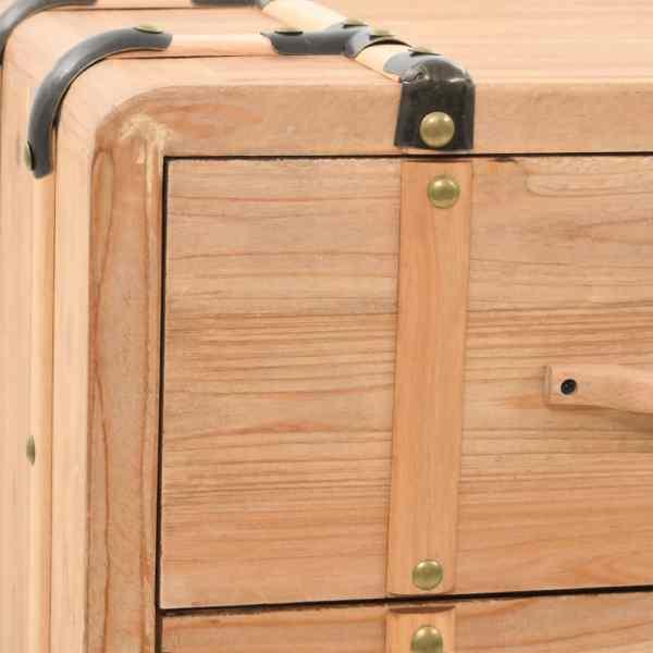 vidaXL Dulap cu sertare, lemn masiv de brad, 91 x 35 x 73 cm
