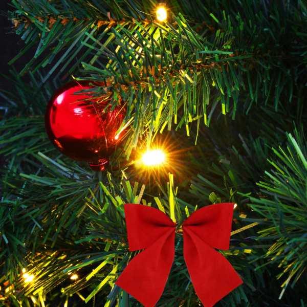 vidaXL Pom de Crăciun artificial decorat globuri și LED 64 cm verde