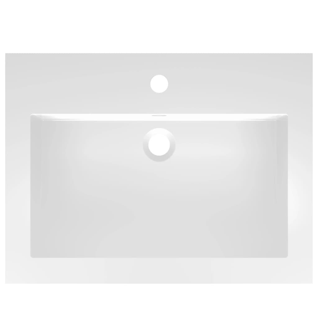 Chiuvetă din granit, alb, 600 x 450 x 120 mm