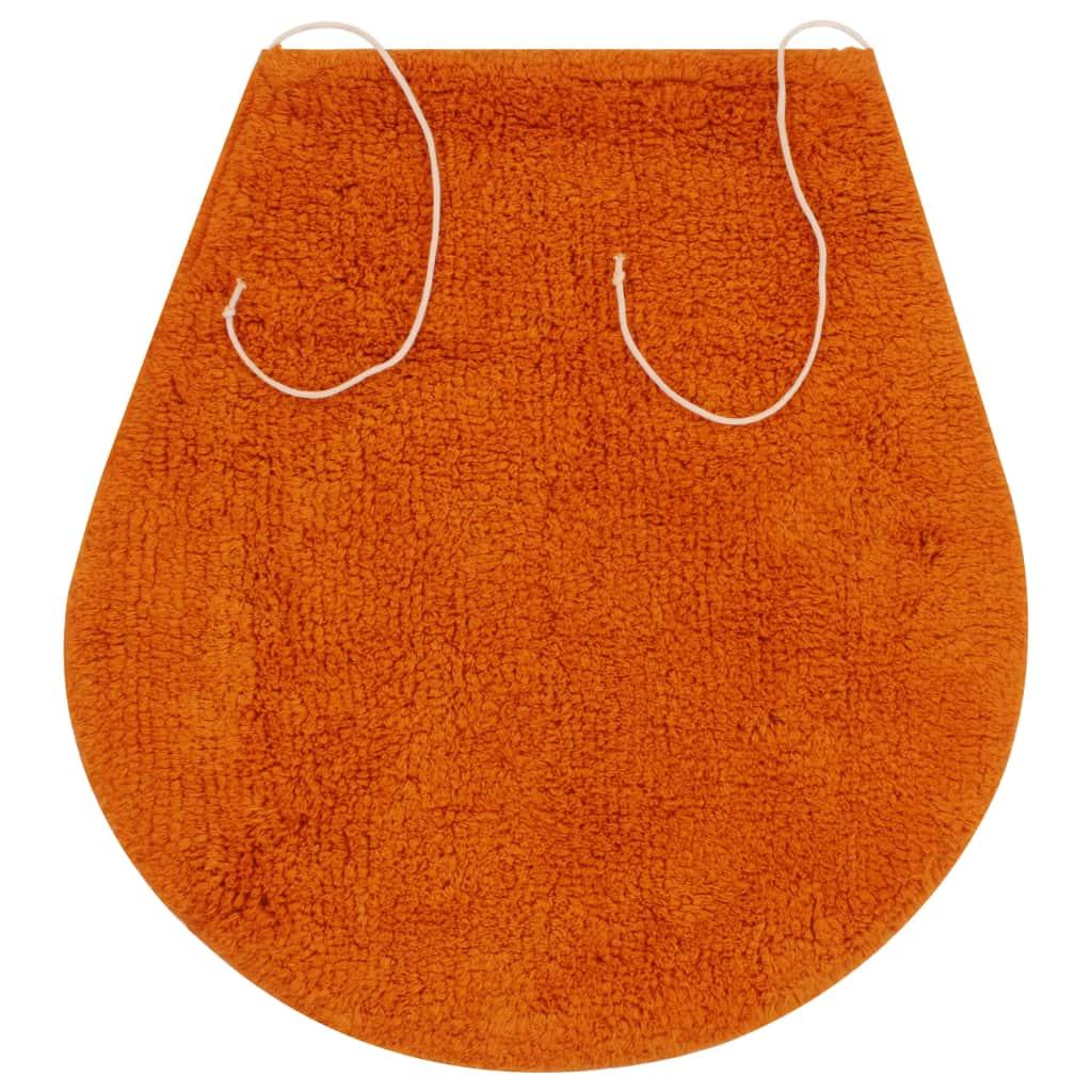 vidaXL Set covorașe de baie, 3 piese, portocaliu, textil
