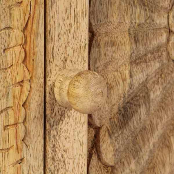 Masă noptieră, lemn masiv de mango, 40 x 30 x 50 cm