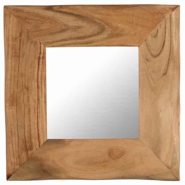 vidaXL Oglindă cosmetică, 50 x 50 cm, lemn masiv de acacia