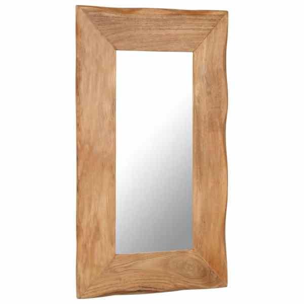 vidaXL Oglindă cosmetică, 50 x 80 cm, lemn masiv de acacia
