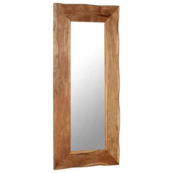 Oglindă cosmetică, 50 x 110 cm, lemn masiv de acacia