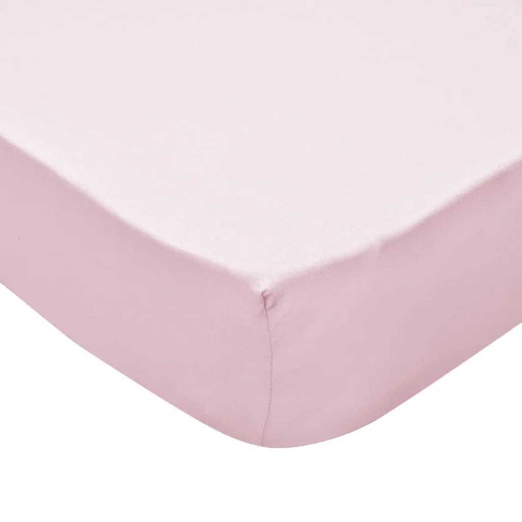 Cearșafuri cu elastic pătuț 4 buc roz jerseu bumbac 40×80 cm