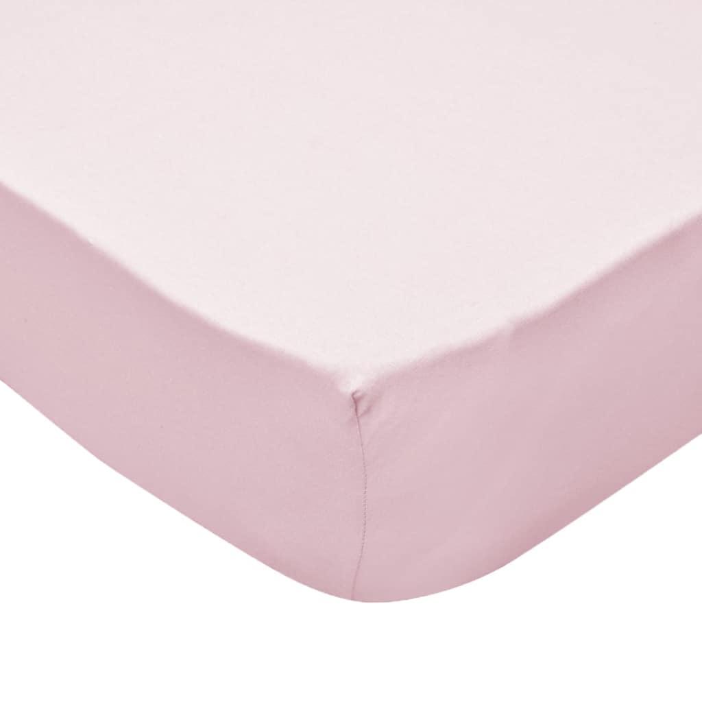 Cearșafuri cu elastic pătuț 4 buc roz jerseu bumbac 60×120 cm