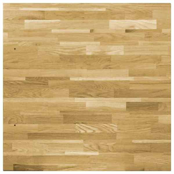 Blat de masă, lemn masiv de stejar, pătrat, 44 mm, 80×80 cm