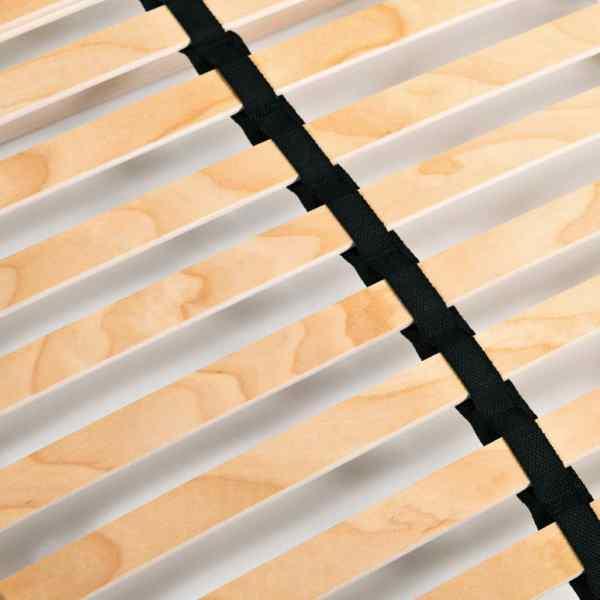 Bază pat cu șipci, 28 șipci, 7 zone, 140 x 200 cm