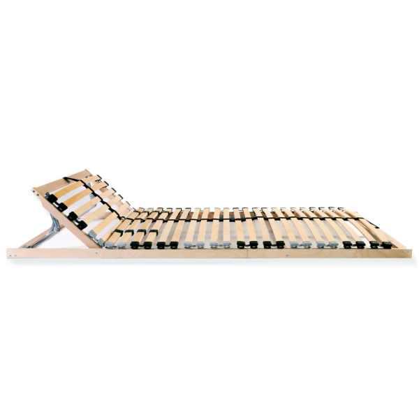 Bază de pat cu șipci, 28 șipci, 7 zone, 70 x 200 cm