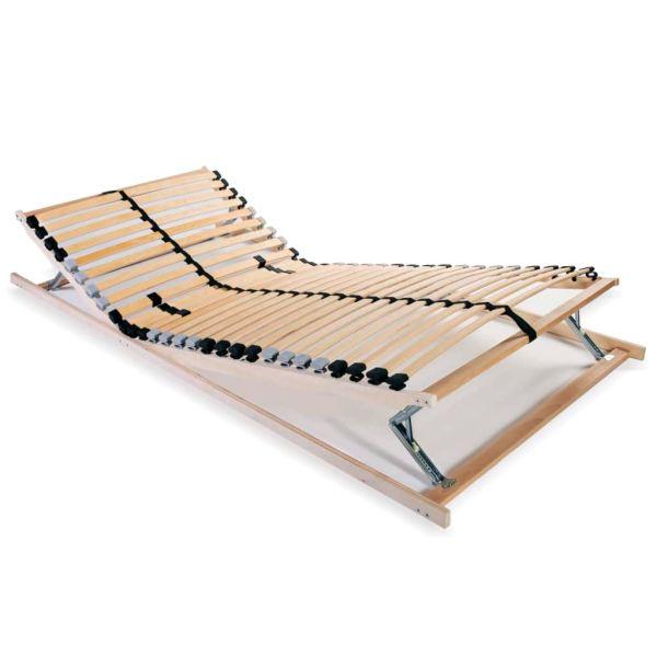 vidaXL Bază de pat cu șipci, 28 șipci, 7 zone, 80 x 200 cm