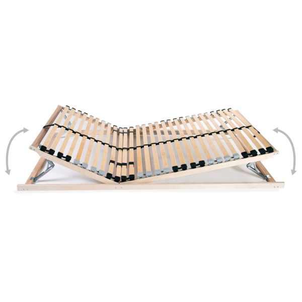 Bază pat cu șipci, 28 șipci, 7 zone, 90 x 200 cm