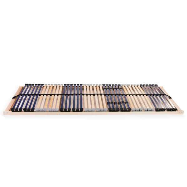 Bază de pat cu șipci, 42 șipci, 7 zone, 80 x 200 cm
