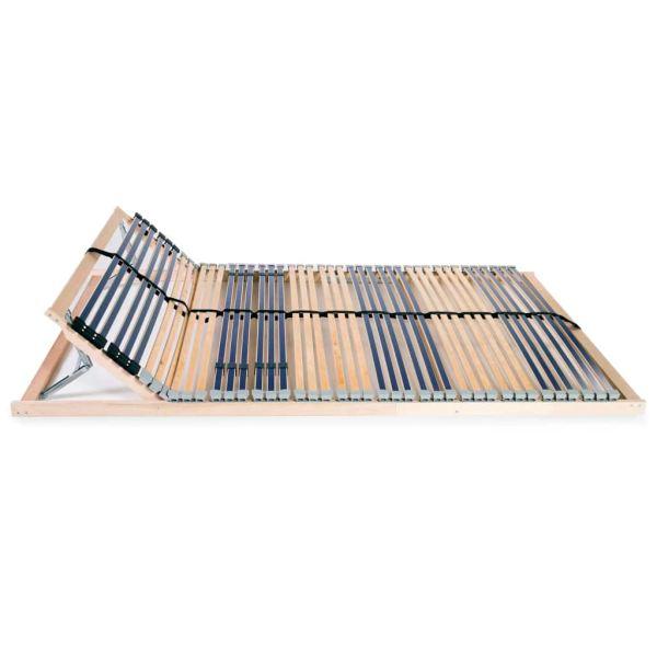 Bază de pat cu șipci, 42 șipci, 7 zone, 100 x 200 cm
