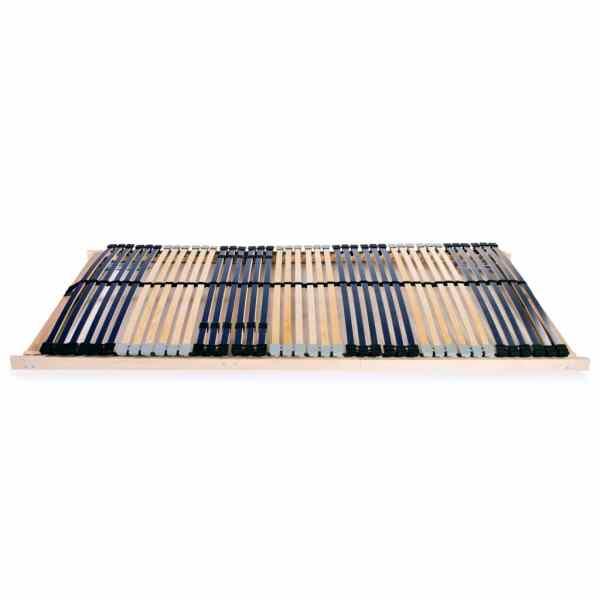 Bază de pat cu șipci, 42 șipci, 7 zone, 140 x 200 cm