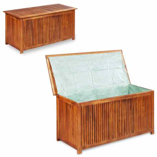 vidaXL Ladă de depozitare grădină, 150x50x58 cm, lemn masiv de acacia