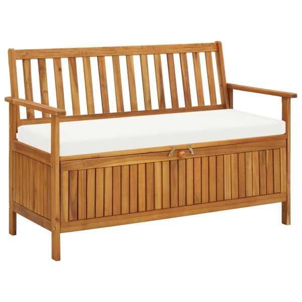 vidaXL Bancă de depozitare grădină 120x63x84 cm lemn masiv salcâm XL
