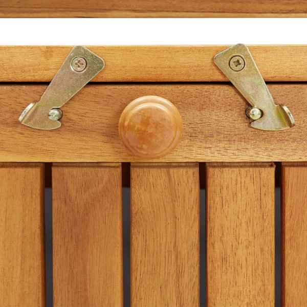 Bancă de depozitare grădină 120x63x84 cm lemn masiv salcâm XL