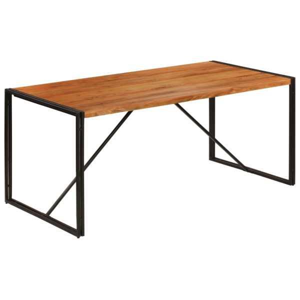 vidaXL Masă bucătărie 180x90x76cm lemn masiv acacia finisaj palisandru