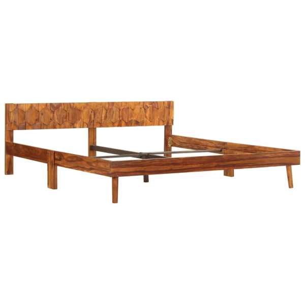 Cadru de pat, 180 x 200 cm, lemn masiv de sheesham