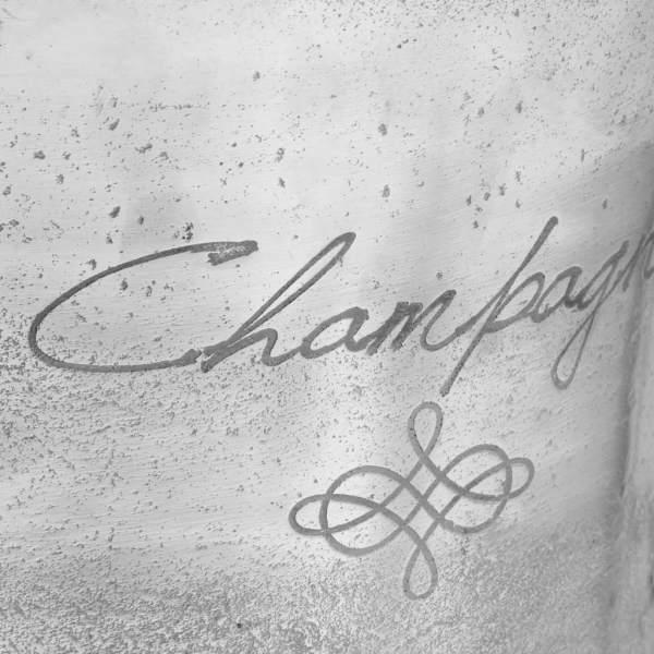 vidaXL Frapieră șampanie, argintiu, 39 x 29 x 71 cm, aluminiu
