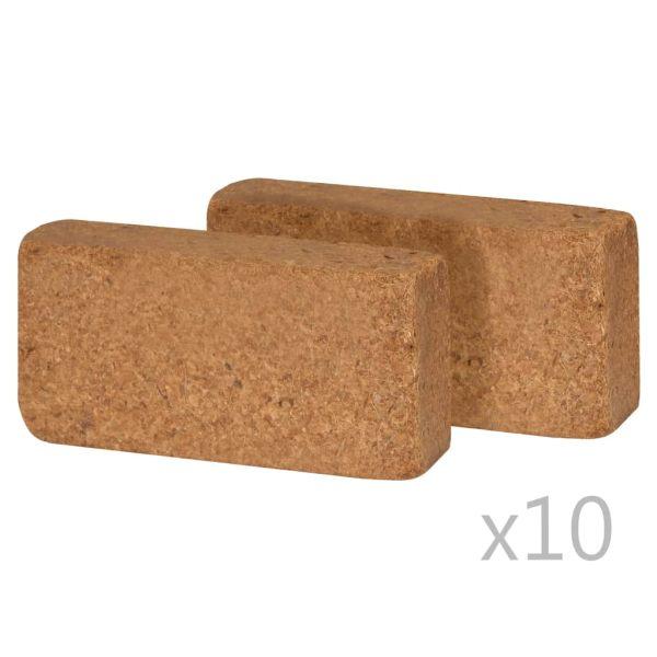 vidaXL Blocuri din fibră de nucă de cocos 20 buc. 20x10x4 cm 650 g