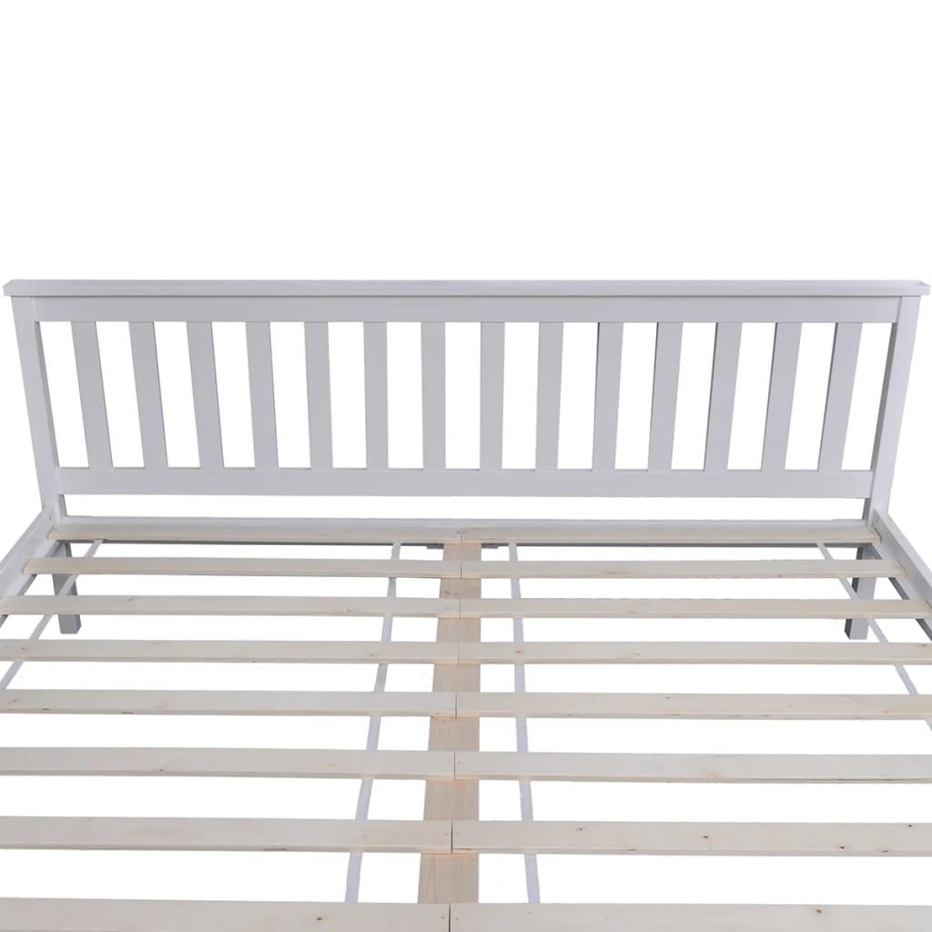 Cadru de pat, alb, 180 x 200 cm, lemn masiv de pin