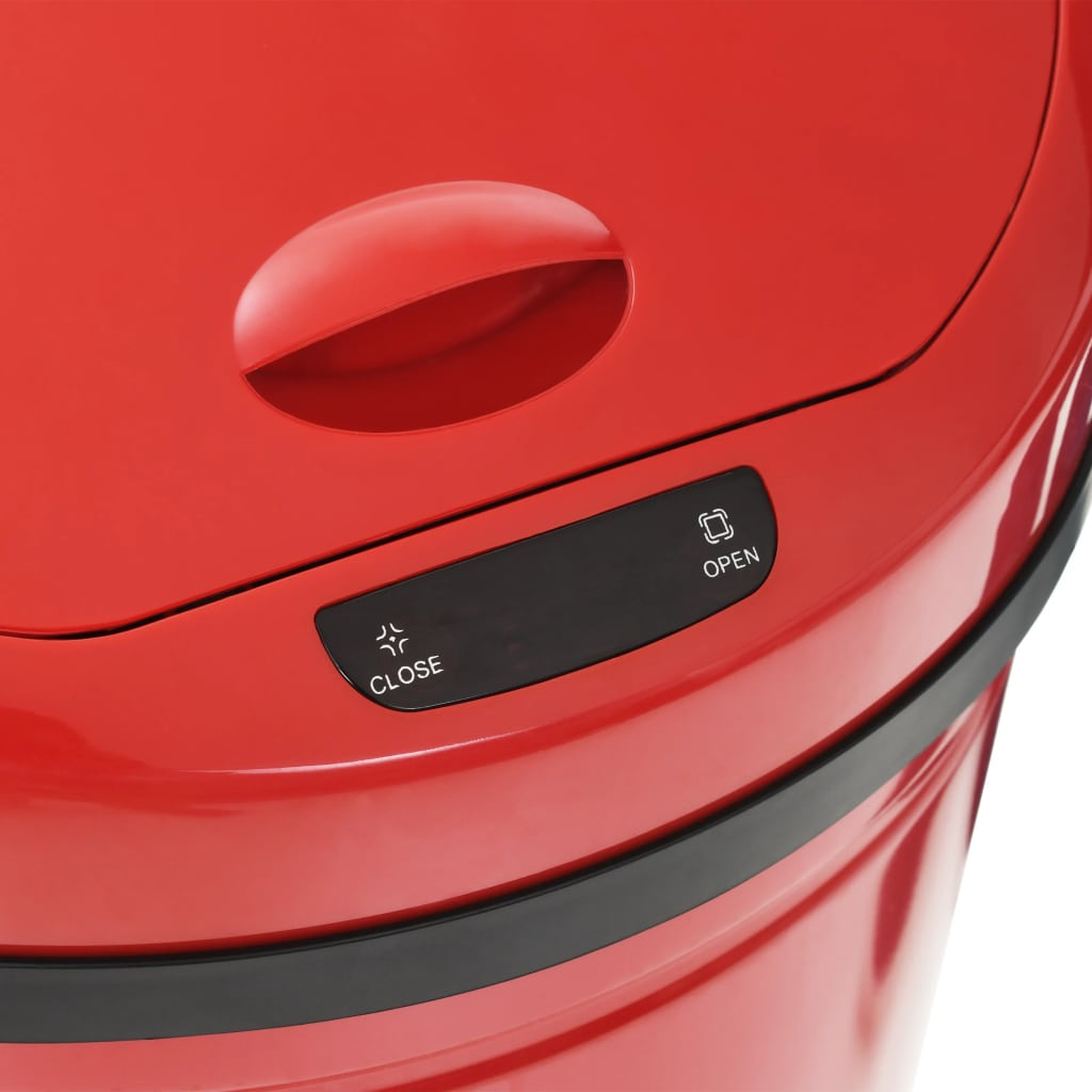 vidaXL Coș de gunoi cu senzor, 42 L, roșu
