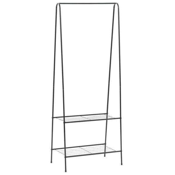 vidaXL Cuier de haine, 59 x 35 x 150 cm, negru