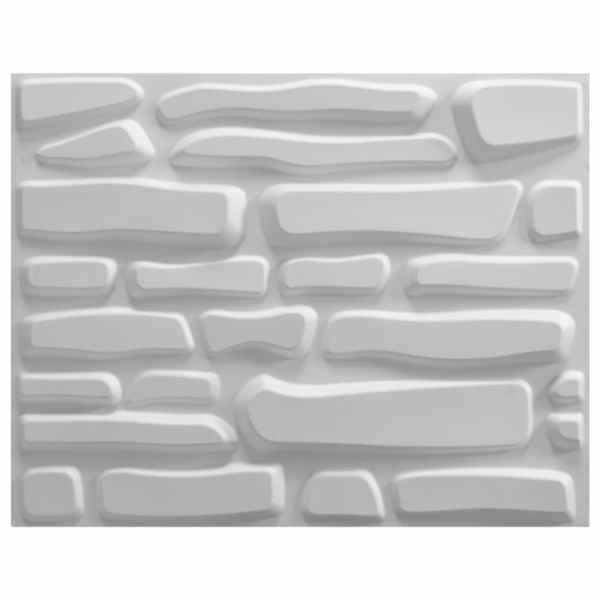 Panou de perete 3D, 12 buc., 0,8 x 0,625 m, 6 m²