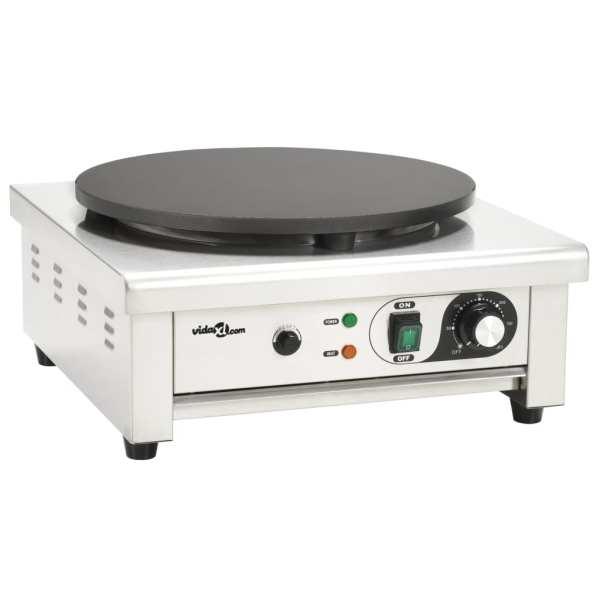 vidaXL Aparat electric de clătite cu tavă retractabilă, 40 cm, 3000 W