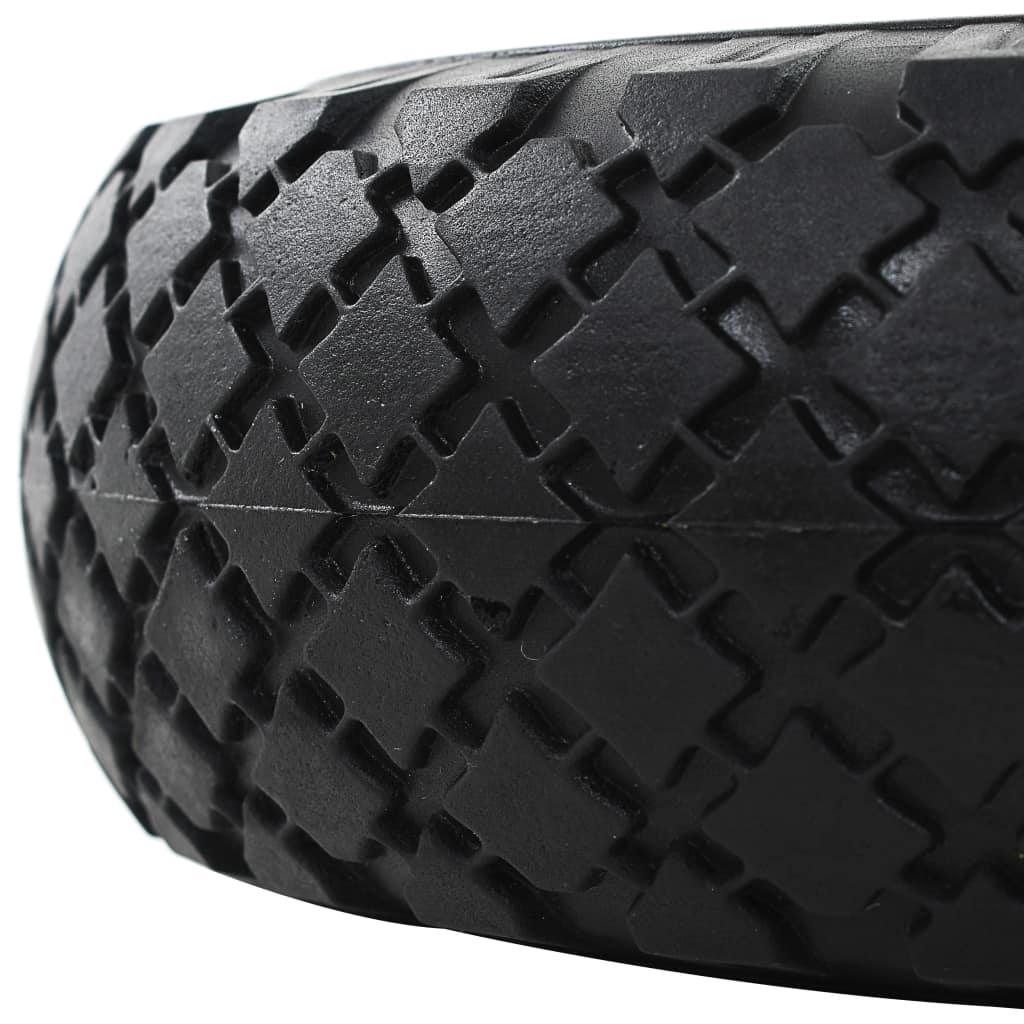 vidaXL Roți cărucior industrial, 2 buc, PU 3.00-4 (260 x 85)