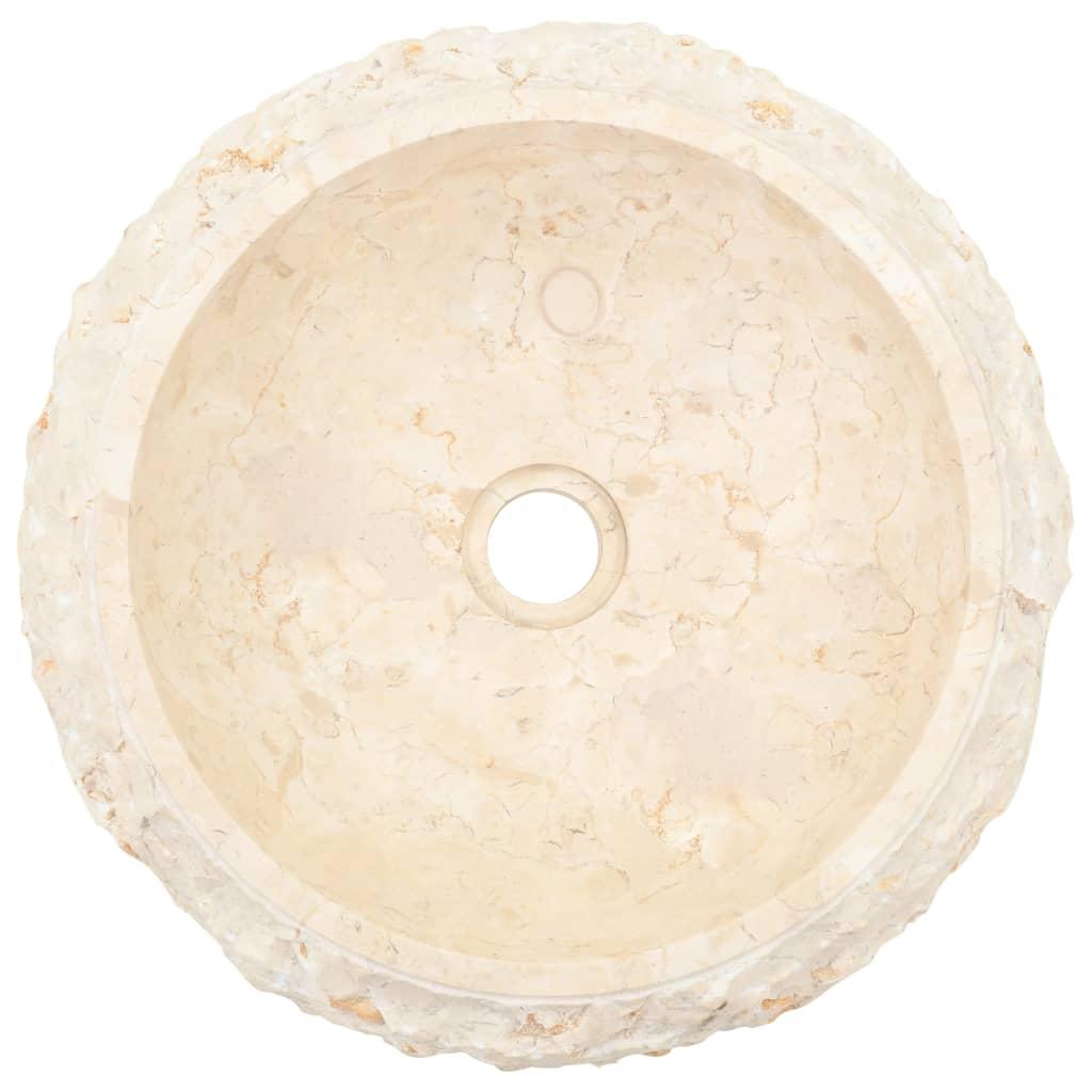 vidaXL Chiuvetă, crem, 40 x 12 cm, marmură