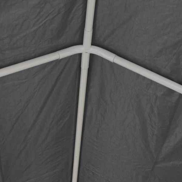 Cort de petrecere din PE (polietilenă) 6×12 m Gri