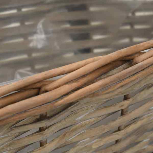 Jardinieră de balcon, 2 buc., 40 cm, răchită căptușeală PE