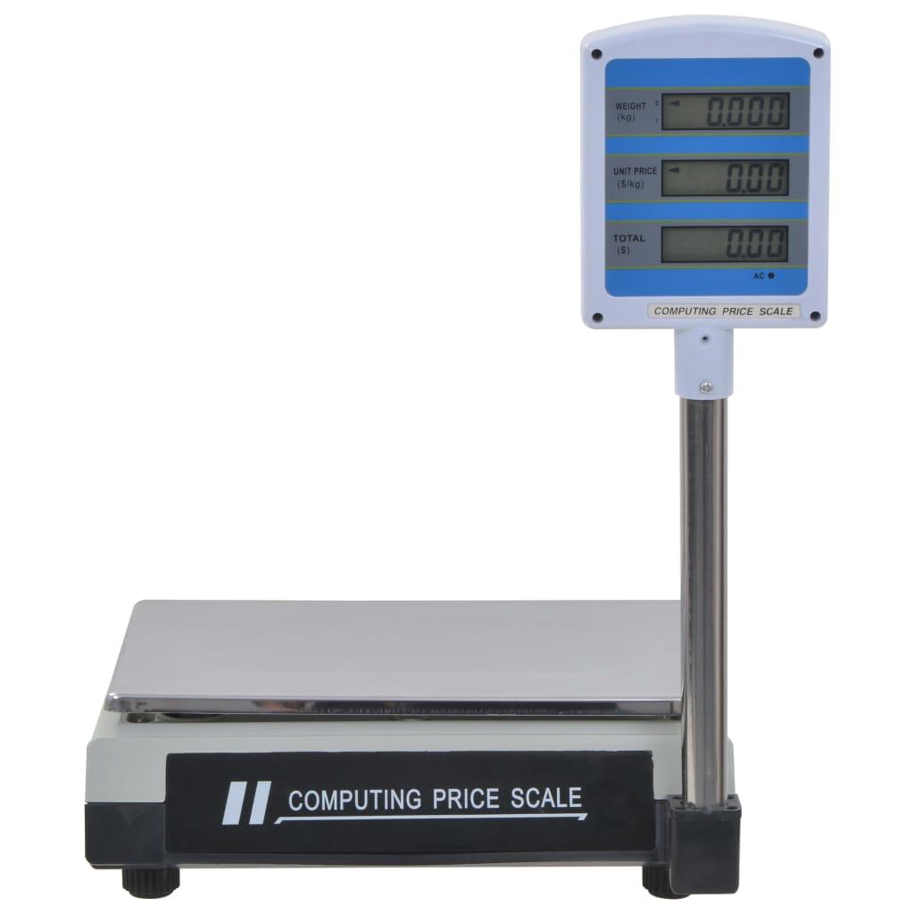 vidaXL Cântar electronic de pachete cu LCD, 30 kg