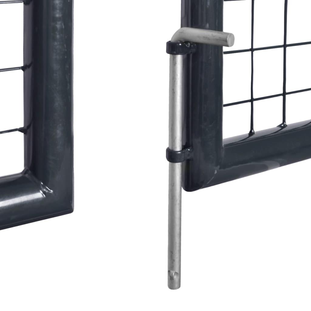 vidaXL Poartă din plasă de grădină, gri, 289×175 cm, oțel galvanizat
